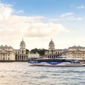 See the sights of London in style on board MBNA Thames Clippers
