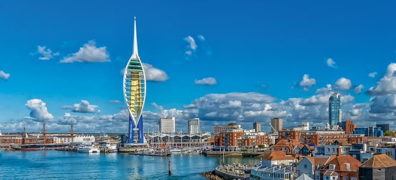 Emirates Spinnaker Tower with Warrior & Gunwharf Quays