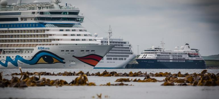 Cruise ships in Orkney (credit Magnus Budge)
