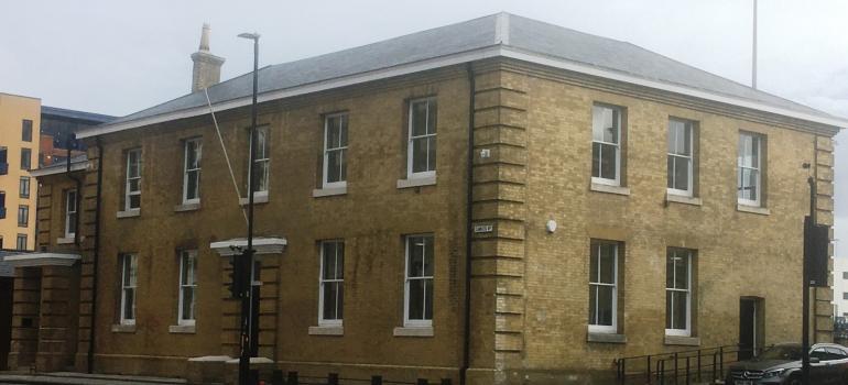 Refurbished Southampton port building Pilgrim House