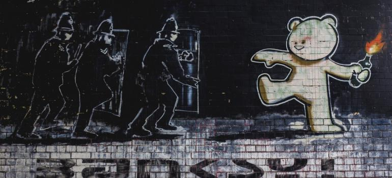 Banksy street art. Credit Morgane Bigault