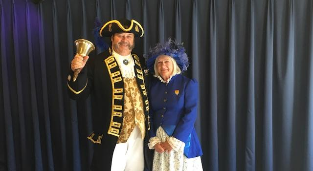 Town Crier meets every arrival at Dartmouth