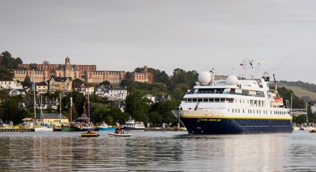 Town mooring and Britannia Royal Naval College, Dartmouth