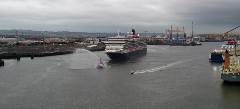 Queen Elizabeth, Belfast's 1,000th cruise ship